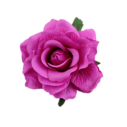 Lovefairy Beautiful Rose Flower Hair Clip Pin up Flower Brooch for Party Travel Festivals