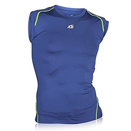 959fd5926e7fb4 Mens Sleeveless Compression Shirt Running Workout Athletic Tank Top T-Shirt  by X31 Sports (