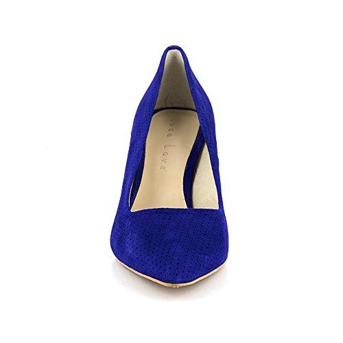 Azul De Lova Loca Zapato Cuero Salón XZRx1
