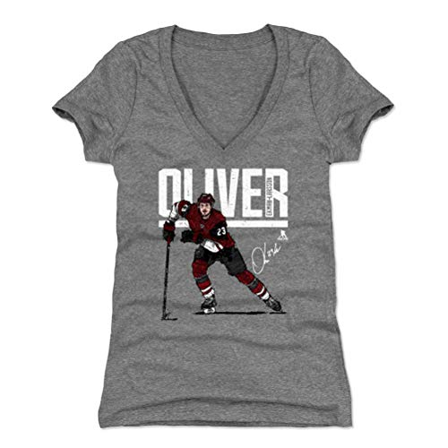- 500 LEVEL Oliver Ekman-Larsson Women's V-Neck Shirt (XX-Large, Tri Gray) - Arizona Coyotes Shirt for Women - Oliver Ekman-Larsson Hyper R WHT
