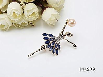 jyx 10/x 13/mm Rosa S/ü/ßwasser-Perle Brosche Pin Corsage Hochzeit Bouquet Weihnachten Geschenk