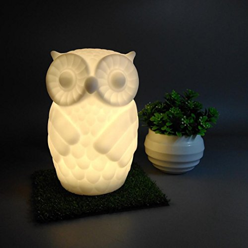 Baby Night Light, Sacow Cute Owl LED Night Light Nursery Bedroom Decors Lamp Animal Light Table Lamp (Warm White) by Sacow