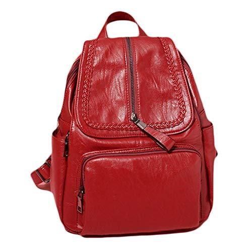 dos rafraîchissant bandoulière option mode à petit sac ZCM couleurs Tide 2 en souple Rouge cartable Voyage Portable sac Loisirs Double à étudiant cuir féminine en TgqtU