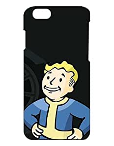 Fallout 4 Cell Phone Cover Case for iPhone 6S, iPhone 6 Funda Piel Cool Game Girls Boys (Negra and Diseño) 3D Dura Plastik Protect Luz Vintage Slim Snap on Case for