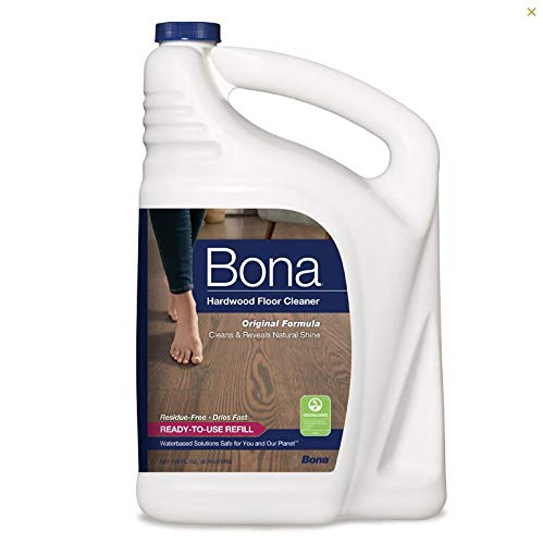 Bona WM700018159 Cleaner, Hardwood Floor Refill Gallon, 1 gallon/128oz - Green Hardwood Floor