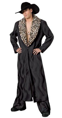 (Men's Pimp Mac Daddy Theater Costume, Black, Large)