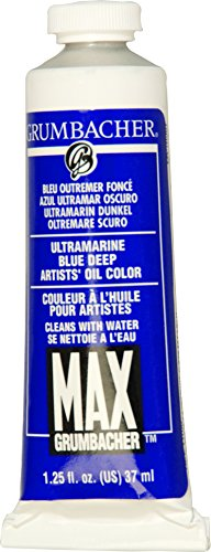 Grumbacher Max Water Miscible Oil Paint, 37ml/1.25 oz, Ultramarine Blue ()