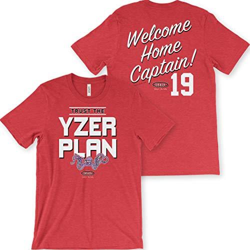 (Detroit Hockey Fans. Trust The Yzerplan Red T-Shirt (Sm-5x) (Heather Short Sleeve, X-Large))