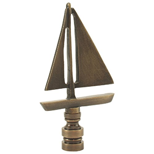 Antique Brass Sailboat - Sailboat - Antique Brass finish - 3.5 Inches high - 2 Inches wide