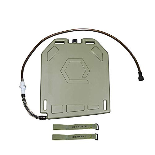 IcePlate Warming and Cooling plus Hydration System (BPA free 1.5 Liter 50 oz) for Military, Tactical, Law Enforcement, Airsoft, Industrial, EDC (Ranger - Extended Hose - Green Straps)