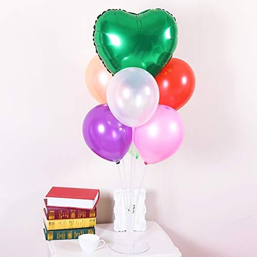 1 Kunststoff Luftballons St/änder Tisch Luftballon Unterst/ützung Rack Set f/ür Hochzeit Party Schreibtisch