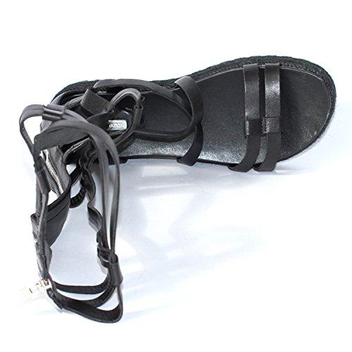 BCBGeneration Open-toe Gladiator estilo sandalias de caña alta para mujer