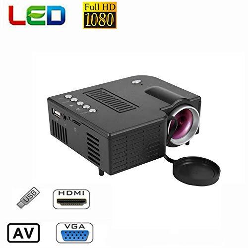 Tosuny Mini Beamer Full HD Projektor unterstützt 1080P Multimedia-Funktion Heimkino 100.000 Stunden Verbindung mit HDMI…