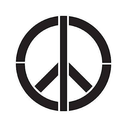 Símbolo de la paz - Art Stencil - 30,5 x 30,5 cm - stcl1260 _ _ _ _ ...