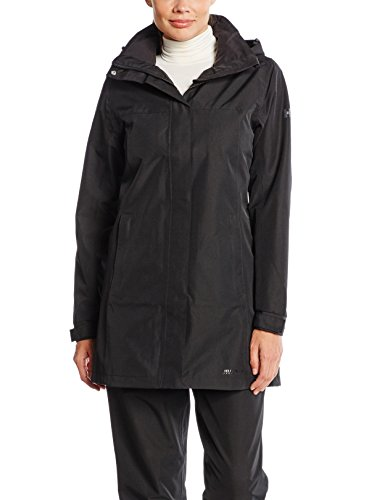 Helly Hansen Women's Aden Long Shell Jacket, Black, X-Large by Helly Hansen