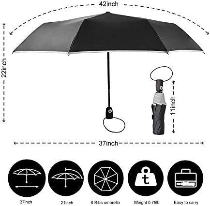 Seamless Bumble Bee Pattern Windproof Travel Umbrella Manual Tri-fold Umbrella
