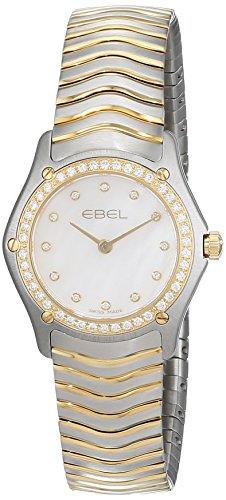 Ebel Men's 1255M41/02500 Brasilia White Dial Two Tone Watch