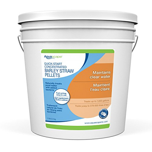 Aquascape Quick Start Barley Straw Pellets for Pond and Water Gardens, Concentrated, 5-lbs / 2.3 kg | 96029 (Barley Straw Pellets)