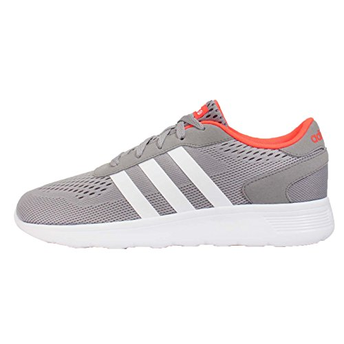adidas Lite-RennläUfer - Farbe: Grau-Orange-Wei� - Grö�e: 8.0 Grey-Orange-White