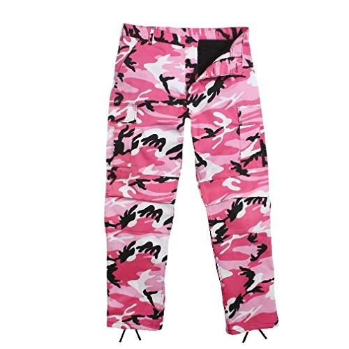 BlackC Sport Pink Camo Fatigue BDU Pants Military Cargo Polyester/Cotton