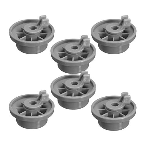 HIFROM Replacement Dishwasher Lower Rack Wheel Clips for Bosch Neff Siemens 165314 AP2802428 PS3439123 (6pcs) (Best Price Neff Appliances)