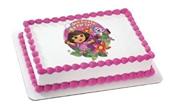 14 Sheet Dora Fiesta Flowers Birthday Edible Image CakeCupcake