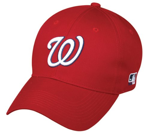 Mlb Replica Cap - Washington Nationals ADULT Adjustable Hat MLB Officially Licensed Major League Baseball Replica Ball Cap