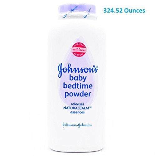 (324.52oz TOTAL Sent in Multi-Bottles) Johnson's Baby Powder BED TIME Scent. Dermatologist Tested to be hypoallergenic. Clinically proven to soothe the skin, and absorb moisture.(324.52oz Total) by Johnson's