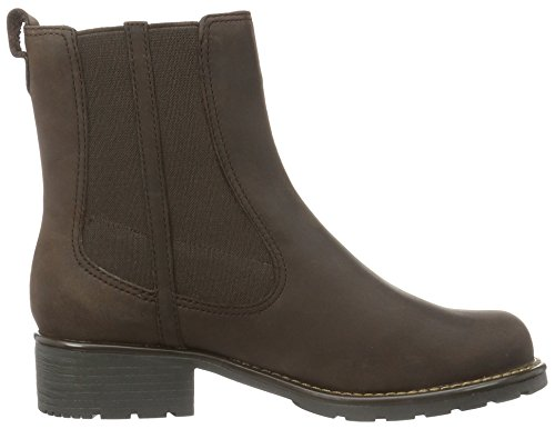 Orinoco Clarks Club Chocolate Brown Leather Boots Womens 6d4q1dxw