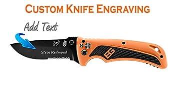 Custom Laser Engraved Gerber Bear Grylls AO Knife