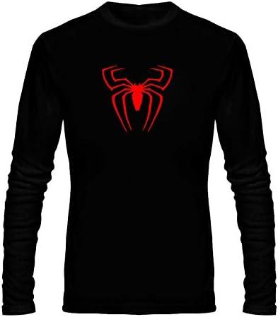 6e16081b2 Wild Thunder Men Cotton Spider Logo Printed T Shirt Small 36 Size Black