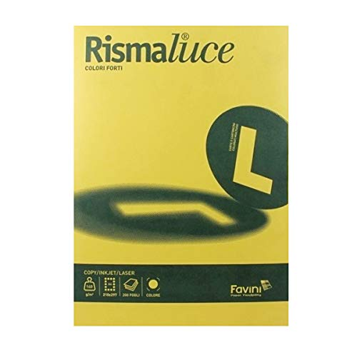 Cartoncino colorato Rismaluce Favini A4 200 g/mq giallo oro A67H104 ()