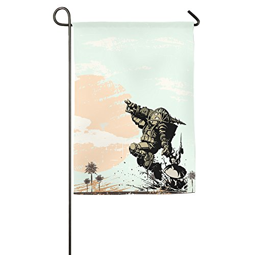 Bioshock 2 Big Daddy Little Sister Garden Flags