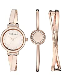 5f2e03e7e2e Women s AK 3292LPST Swarovski Crystal Accented Rose Gold-Tone and Blush Pink  Watch and · Anne Klein