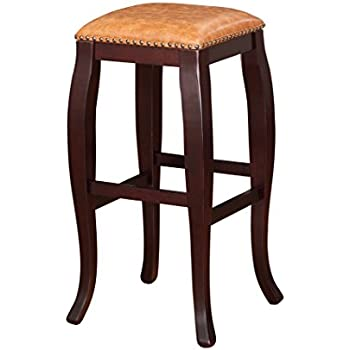 Amazon Com Linon San Francisco Square Top Bar Stool
