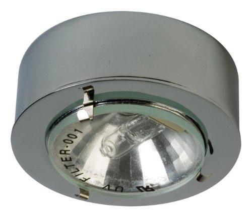 Mini Puck Lens Clear - Eurofase R030-05 1-Light Mini Puck Halogen Cabinet Light, Chorme/Aluminum