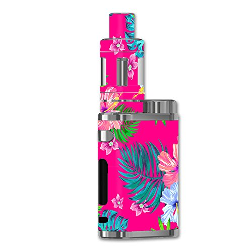 Skin Decal Vinyl Wrap for eLeaf iStick Pico 75W Vape stickers skins cover/Pink Neon Hibiscus Flowers