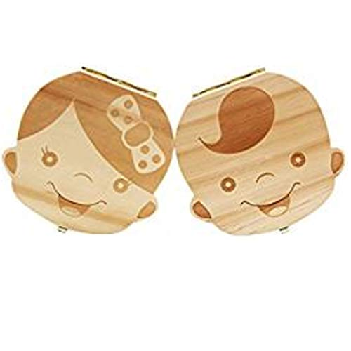 - Waxplle 2PCS Tooth Box,Personality Baby Teeth Box Tooth Saver Design for Kids Deciduous Teeth Collection for Girl Boy