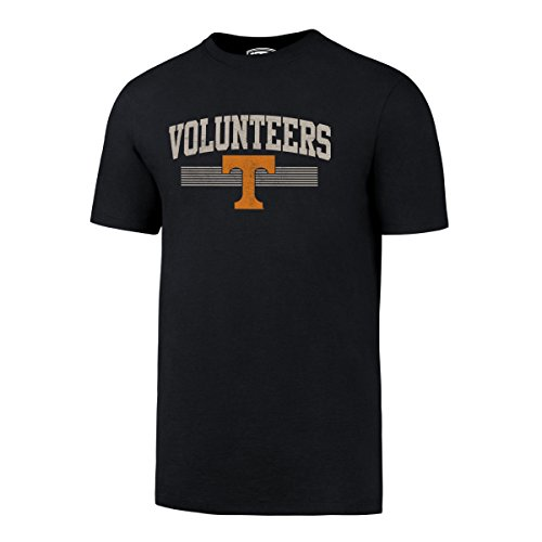 OTS NCAA Tennessee Volunteers Men's Rival Distressed Tee, Large, Fall Navy