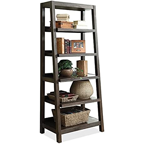 Canted Bookcase In Cocoa Finish