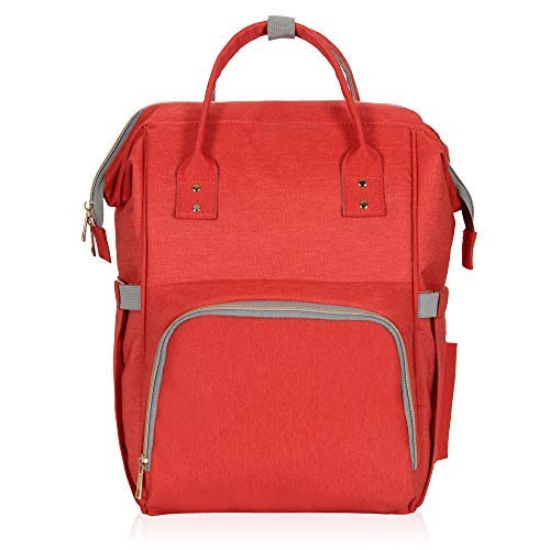 (Hynes Eagle Water Resistant Diaper Backpack Multipurpose Baby Travel Bag for Dad or Mom Red)