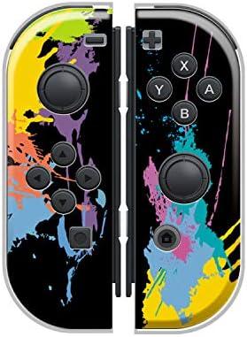 Nintendo Switch ケース 任天堂 スイッチ ジョイコン ケース ハードタイプ 傷から守る カラフル ペイント ペンキ スプラ 人気 かわいい おしゃれ