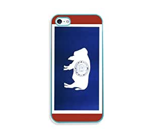 Wyoming Flags Aqua Silicon Bumper iPhone 5 & 5S Case - Fits iPhone 5 & 5S