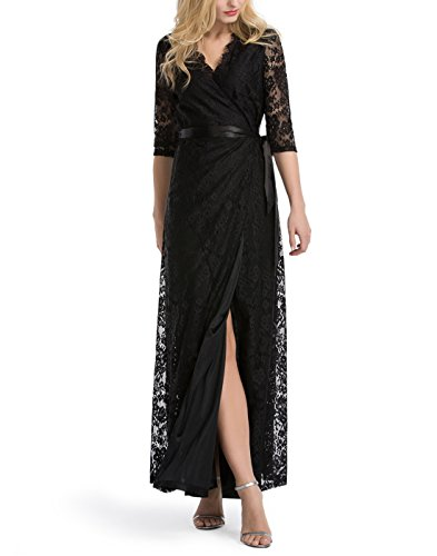Lace Wrap Dress - 7