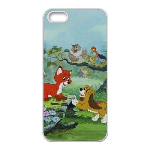 Fox And The Hound 007 coque iPhone 5 5S Housse Blanc téléphone portable couverture de cas coque EOKXLLNCD09268