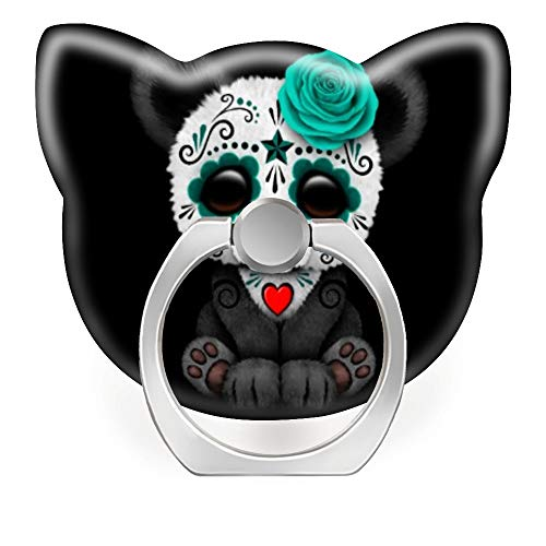 - Phone Ring Stand Holder 360 Degrees Rotation Finger Ring Car Mount Hooks for iPhone X/Xr/Xs Max, iPhone 6/7/8 Plus, Galaxy S8/S9 Plus,Blue Day of The Dead Sugar Skull Panda on Black