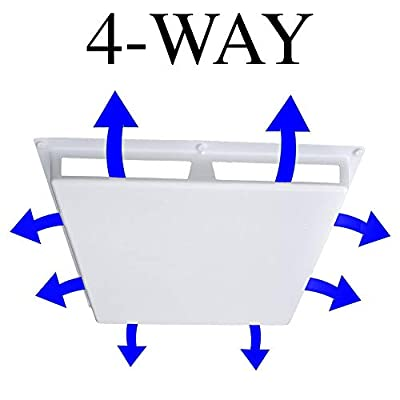 """Elima-Draft Commercial 4-Way Air Deflector Vent Cover for 24"""" x 24"""" Diffusers"""