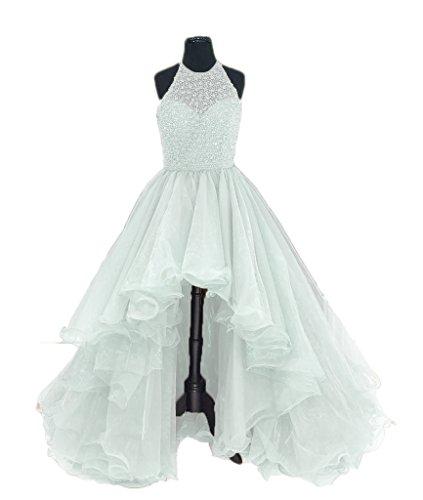 Perles Licol Femmes Dkbridal Robes De Bal De Retour À La Maison Salut-lo Blanc