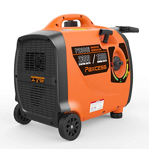 PAXCESS-Super-Quiet-Inverter-2300-Watts-Portable-Gas-Powered-RV-Generator-with-Wheels-and-Handle-LCD-Display-ScreenEco-ModeParallel-ReadyCARB-Complaint-P2300i