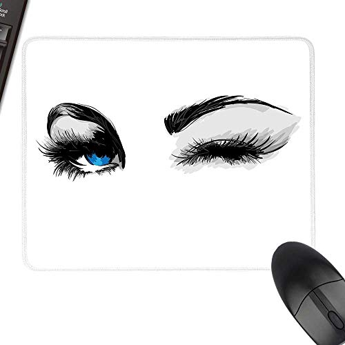 (Eye Extra Large Mouse Pad Flirty Attractive Woman with Blue Eyes and Thick Lashes Beauty Glamor Youth Keyboard Mouse Pad 23.6